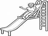 Coloring Slide Pages Playground Kid Getdrawings Wecoloringpage Printable Getcolorings Print sketch template