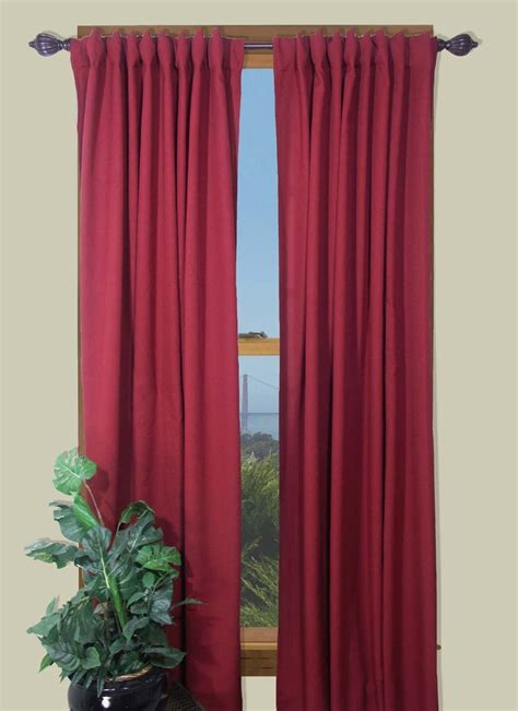 glasgow   rod pocket  tab curtain panel