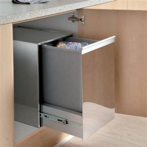poubelle de placard cuisine poubelle monobac 35l pour meuble de 400mm accessoires de
