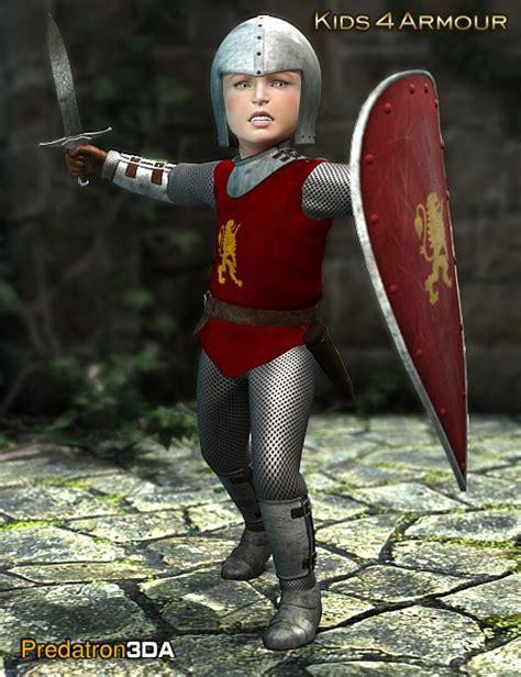 4 armor uniforms costumes for daz studio and poser