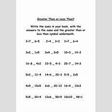 Greater Than Or Less Than Worksheets By Misshunt  Teaching Resources Tes