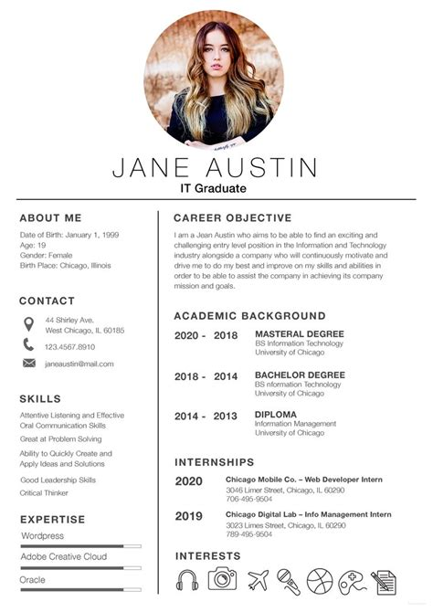 Resume Templates Free For Fresher by Free Basic Fresher Resume Cv Template In Photoshop Psd