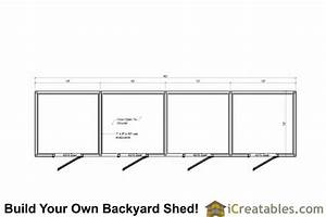 free horse run in sheds plans ksheda With 4 stall horse barn designs