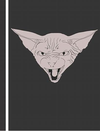 Hissing Cat Hairless Sphynx Composition Kitty Notebook