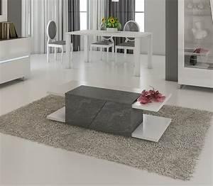 table basse design lizea zd1 tbas d 080jpg With meuble d entree chaussures 8 miroir design blanc lizea zd1 jpg