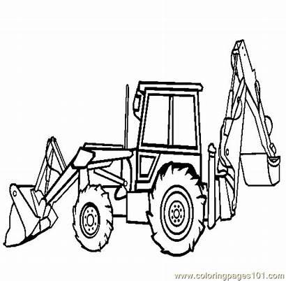 Coloring Construction Equipment Pages Clipartpanda Backhoe Loader