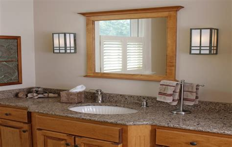 Mission Style Mirror. Great Prairie Style Bathroom