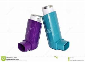 Asthma Inhalers Stock Photo