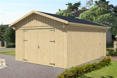 Garage Skanholz «falun» Doppelgarage Holzgarage Bausatz