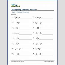 Grade 5 Fractions Worksheet Multiply Fractions Practice  School Stuff  Pinterest Fractions