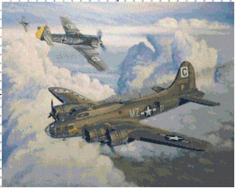 bomber cross stitch pattern advanced cross stitch
