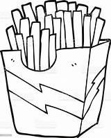 Fries French Cartoon Clipart Illustration Vector Coloring Clip Bizarre Illlustration Technique Vectors Title sketch template
