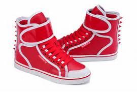 Noble Red White Adidas Originals Rivet High Tops Shoes Women Popula  Adidas Shoes High Tops Red