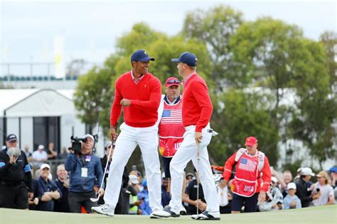 Presidents Cup 2019: Tiger Woods chips in, then celebrates ...