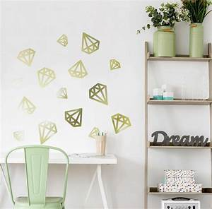 great ideas for metallic gold vinyl wall stickers and letters With gold wall decals