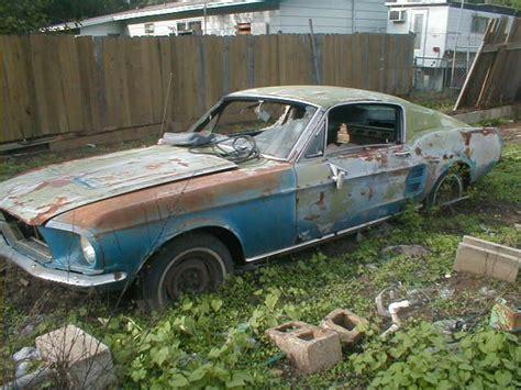mustang   dam waist abandoned cars junkyard cars