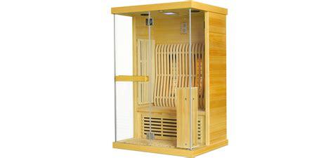 infrarot sauna fuer  personen naturholz