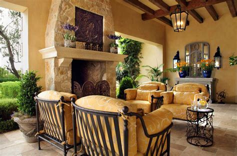 Mediterranean Home Decor With Dark Cream Wall Paint Color