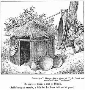 Binding Memories: Sketch of pots at burial hut