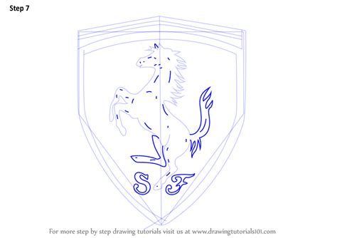 ferrari logo sketch ferrari logo sketch pictures to pin on pinterest pinsdaddy