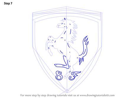 ferrari horse outline ferrari logo sketch pictures to pin on pinterest pinsdaddy