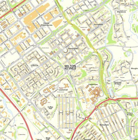 milton keynes wall map map graphics