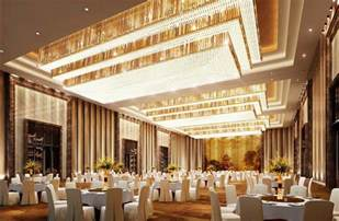 wedding halls luxurious banquet lighting and wall design rendering