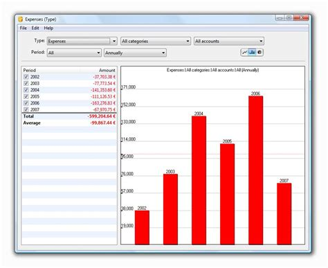 personal finance chart maxprog icash windows version screenshots