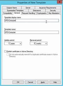 server 2012 configuration certificate templates With workstation authentication certificate template