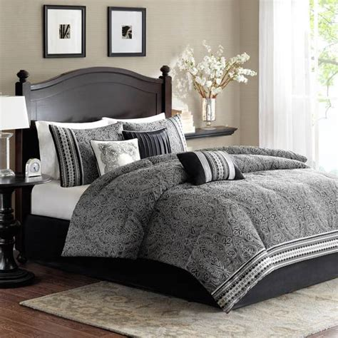 shop madison park barton black bed covers the home