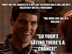So you're telling me There's a chance - Lloyd Christmas ...