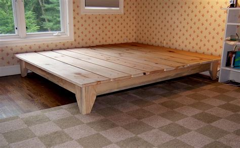 unique rustic platform bed frame king  cool design
