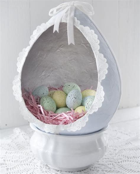 paper mache easter egg diorama smile mercantile craft