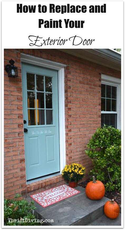 replace  paint  exterior diy door thrift