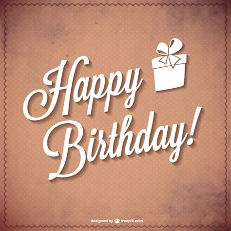 happy birthday typography vector vector free download