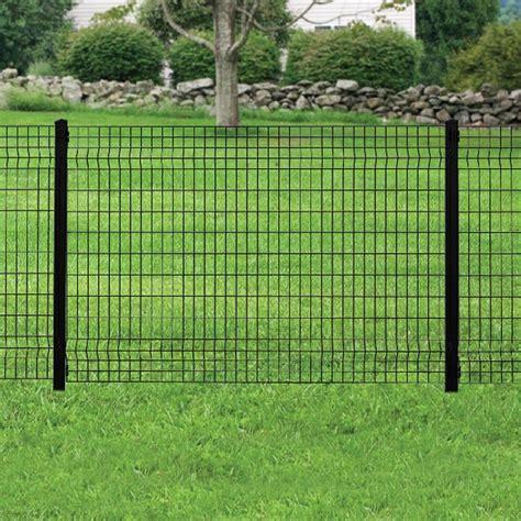 forgeright deco grid  ft   ft black steel fence panel   home depot