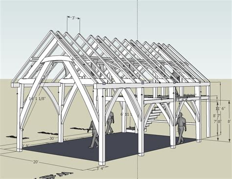 Download Timber Frame Barn Plans Free Plans Diy Wood