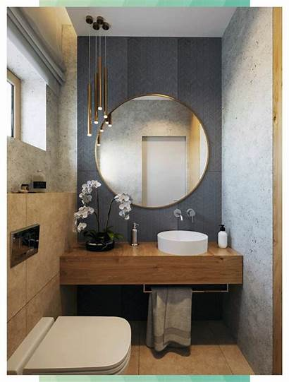Bathroom Luxury Grau Motif Einfamilienhaus Holz Einem
