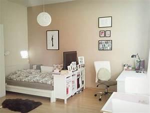Zimmer Einrichtungsideen Jugendzimmer : sch ne wg zimmer einrichtungsidee gro es bett schreibtisch bilder und praktische kommode mit ~ Sanjose-hotels-ca.com Haus und Dekorationen