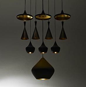 Tom Dixon Lamp : beat fat pendant black gold by tom dixon ~ Markanthonyermac.com Haus und Dekorationen