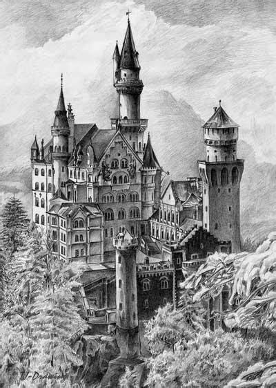 Neuschwanstein Castle by TJ-Drawing on DeviantArt