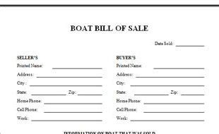 Blank Boat Bill Of Sale Georgia by Florida Bill Of Sale For Boat And Trailer