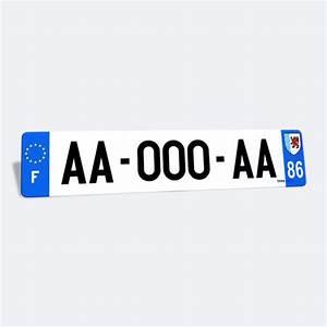 Plaque Immatriculation Voiture : plaque immatriculation voiture en plexiglass 520x110 mm ~ Melissatoandfro.com Idées de Décoration