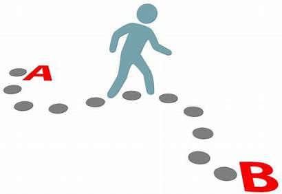Dots Connecting Point Path Follow Plan Walk