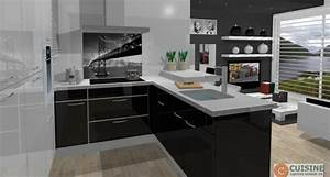 cuisine equipee ouverte cuisine en image With idee deco cuisine avec cuisine Équipée les moins cheres
