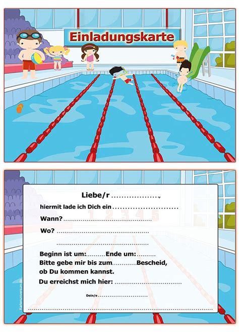 einladung geburtstag schwimmbad text geburstags