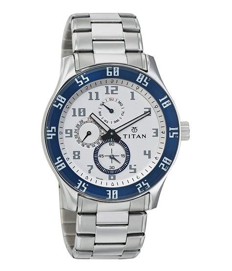 titan white and stainless steel casual 1632sm01 buy titan white and stainless steel