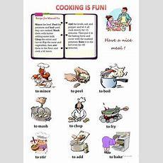 Cooking Verbs Esl Vocabulary Worksheets  Esl Ideas  Pinterest  Esl, Worksheets And Vocabulary