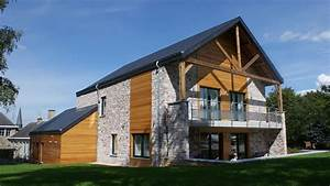 Construction Maison En Pierre : maison passive en pierre et bois maison pierre bois en ~ Melissatoandfro.com Idées de Décoration
