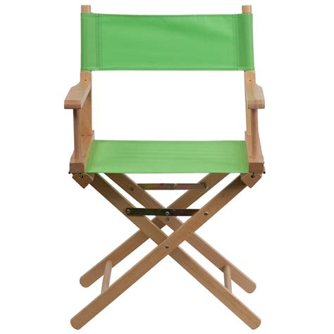 standard height directors chair in green